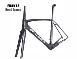 Wholesale Red Fit Bike - Deacasen Frantz Carbon Frame Road Bike Frameset full carbon fiber T1000 matte finish UD color can choose frame fit 700c carbon wheels