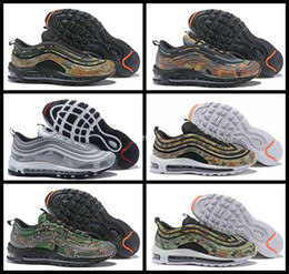 Wholesale uk tables - 2018 New 97 Country Camo Japan Italy UK Army Green Running Shoes Men 97s Camouflage Ultra Bullet 3M Premium Zoom Trainers Sneakers 40-46