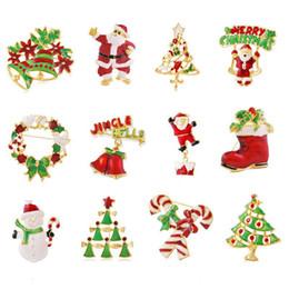 Schmuck & Zubehör Schmucksets & Mehr Nette Metall Broschen Weihnachten Baum Strumpf Glocken Santa Broschen Weihnachten Dekoration Geschenke Kleidung Zubehör Gold Kette