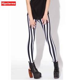 Wholesale Girls Galaxy Leggings - Hipsterme Drop ship S-4XL Women Black and white stripes Leggings MIlk Leggings Galaxy Plus Size girl