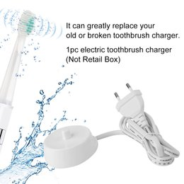 Wholesale Toothbrush Electric Oral - EU Plug Replacement Electric Toothbrush Charger Cradle 3757 Suitable For Braun Oral-b D17 OC18 WHite High Quality Epacket ZC995100