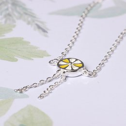 Wholesale Ornament Hooks - Designer jewelry charm fashion 925 Sterling silver chain bracelets Fruit hand ornament personality lemon on the first woman china direct