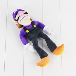 Wholesale Hand Held Toys - 1pcs 27cm Super Mario Plush Doll Soft purple Waluigi Plush toys