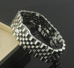 Reloj de acero inoxidable chapado en oro. online-1.7 cm de ancho para la cadena de relojes pulseras de la corona brazaletes para hombres Acero inoxidable 316L chapado en oro rosa de la joyería de moda del diseñador PS6215A