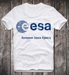 T-Shirt ESA SPAZIO EUROPEO AGENZIA NASA RETRO VINTAGE LOGO VEGA HUBBLE SCIENCE Divertente spedizione gratuita Unisex Casual tee regalo cheap funny science t shirts da magliette divertenti di scienza fornitori
