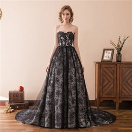 Wholesale Custom Online Printing - 2018 High Quality Prom Dresses Black Tube Top Lace Off Shoulder Tuxedo Online Special Occasion Party Dress