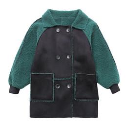 Новая мода зеленый мальчики зимняя куртка детская искусственного меха пальто малыша Дети добавить шерсть длинные верхняя одежда пальто мальчиков Одежда 10 12 Год cheap add long от Поставщики добавить долго