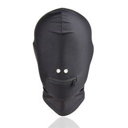 slave sex toy for women Coupons - Fetish Bdsm Bondage Sex Hoods Flexible Head Mask Erotic Play Gear Slave Torture Trainer Adult Sex Toys for Women Black GN312400042
