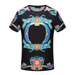 Wholesale Flower Print Tee - fashion italy luxury Brand tshirt designer embroidery medusa geometry flowers letter Men casual round neck women t-shirt shirts tee top