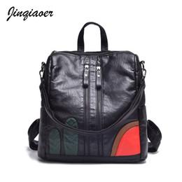 Wholesale o bag - Women Backpack Hot Sale High Quality Backpacks Vintage School Bags For Girls black Female Travel Bags Ladies mochila A6072 o
