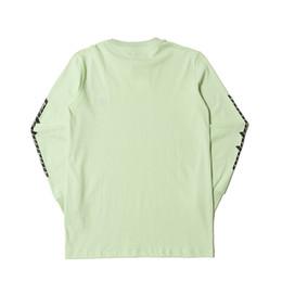 shorts pyrex vermelhos Desconto 2018 Kanye West Calabasas Temporada 5 Logotipo Emboridery Mulheres Homens de Manga Longa camiseta Hiphop Streetwear Homens camiseta de Algodão De Grandes Dimensões