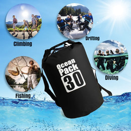 Wholesale swim zipper - Waterproof Bag Dry Bag Ocea Pack With Shoulder Strap Protect Your Gear for Outdoor Rafting Boating Camping Fishing Swimming 30L