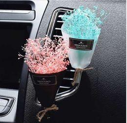 Balsamo di profumo online-Car Interior Accessories Deodorante per ambienti Eternal Dry Flower Aria condizionata Outlet Profumo Ornamenti Decorazione auto senza balsamo