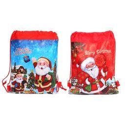 Canada NoEnName_Null Haute Qualité Joyeux Noël / Père Noël Thème Cordon Cadeaux Sacs Sacs Cinch Sac Faveurs Bébé Sac À Dos Offre