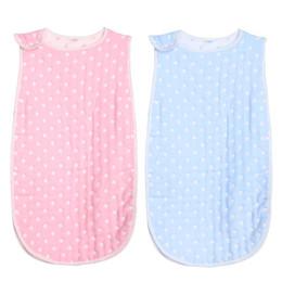 Wholesale Winter Blanket For Newborn Baby - Wholesale- Newborn Baby Sleeveless Sleeping Bag Winter Warm Cartoon Envelope for Newborns Sack Cartoon Dots Cotton Swaddle Blanket Wrap