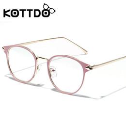 6e6cfc5cdd KOTTDO Vintage Gafas de Mujer Marco Retro Miopía Óptica Gafas Clear Pink  Lente Espectáculo Gafas graduadas de la computadora marcos de gafas rosas  baratos