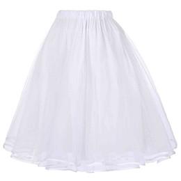 Canada Tulle Jupes Femme Noir Blanc Adulte Jupe Tutu Elastique Taille Haute Jupe Plissée Vintage Saia Rockabilly Jupe Midi supplier adult petticoat skirts Offre