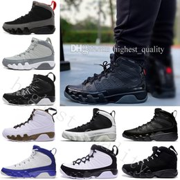 Wholesale Cheap Bonds - 2018 Cheap New 9 mans Basketball Shoes Cool Grey Black White Anthracite Barons The Spirit doernbecher 2010 release IX Sneakers US 7-13