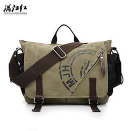 Wholesale Canvas Computer Messenger Bags - MANJIANGHONG 2017 Korean Version of the Multi-functional Computer Bag Men Bag Canvas Shoulder Leisure Messenger 1146