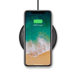 Qi cargador inalámbrico receptor nota online-Para iphone X 8 plus samsung s8 nota 8 Qi cargador inalámbrico módulo receptor y cargador de carga cargador de teléfono celular base del muelle Mini almohadilla de carga