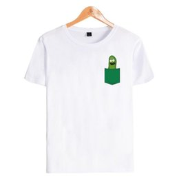 Canada Dabbing Pickle Rick T-shirt Homme Rick et Morty Anime T-Shirt Homme Manches courtes O-Neck Ricky Morty T-shirt drôle T-shirt Homme cheap anime xxs Offre
