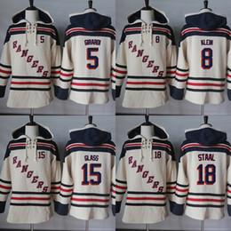 Wholesale Xl Wine Glasses - Hot Sale Mens New York Rangers 5 Daniel Girardi 8 Kevin Klein 15 Tanner Glass 18 Marc Staal Beige Cheap Ice Hockey Hoodies