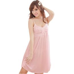 Argentina Vestido de noche de seda de la ropa de dormir de las mujeres de la ropa de dormir atractiva del cordón cheap silk suspender dress Suministro