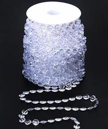 Perlas de cristal cortinas de la puerta online-30 M Decoración de la boda Octagonal acrílico cuentas de cristal cortina de la puerta iridiscente guirnalda filamento Shimmer cortinas fiesta de bricolaje