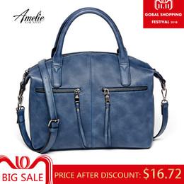 4079758b9371 2019 Fashion AMELIE GALANTI women bag brand new fashion with a pillow handbag  high quality PU tote bag luxury handbags women bags designer