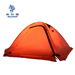 Wholesale Seasons Painting - Hillman Ultra light painted silicon aluminum pole Mountaineering Tent four seasons double camping tent