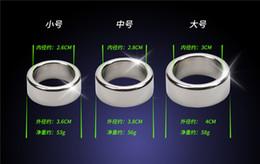 O sexo dos anéis on-line-3 pçs / lote 26/28 / 30mm glande anéis de pênis de aço inoxidável suave anel peniano dispositivo de castidade masculino penis manga sex toys para o homem