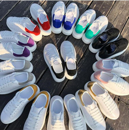 Wholesale Thick Soles - 2018 Mens Women Oversize Platform Thick Sole Mcs Sneakers Running Sneaker Designer Men Casual Runway Shoes Genuine Leather Girl shoes 35-44