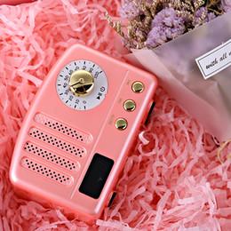 Mini haut-parleur bluetooth rose en Ligne-Nouveau haut-parleur MaoKing M3 American Retro Radio Maiden Pink Eternal Classics mini haut-parleur sans fil Bluetooth boîte à musique