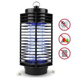 Wholesale mosquito night light - Electronic Mosquito Killer Electronic Insect Killer Bug Zapper Trap Photocatalyst Fly Zapper UV Night Light Trap Lamp