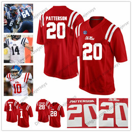 Wholesale Black Dk - Ole Miss Rebels #20 Shea Patterson 1 AJ Brown 14 DK Metcalf 28 D'Vaughn Pennamon Red Navy White Stitched College Football Jerseys S-3XL