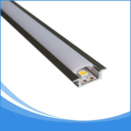Wholesale led aluminum channel shipping - 10PCS 1m length aluminium led profile free DHL shipping led strip aluminum channel housing Item No. LA-LP08