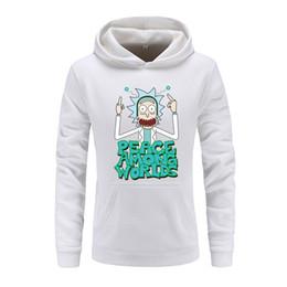 2019 sudaderas masculinas Rick Morty Anime Men Hoodie 2018 New Male Slim Casual Hoody Rick And Morty Print Sudaderas con capucha para hombres Sudaderas 100% Algodón rebajas sudaderas masculinas