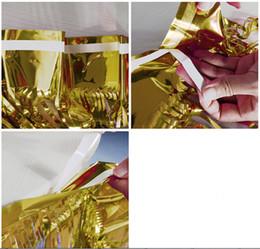 decorazioni per tende in foglia Sconti Foil Fringe Gonna da tavolo Tinsel Tenda Metalic Tassel Grlands Gonna da tavolo Decorazione di nozze Sfondo di Natale Decorazioni per feste