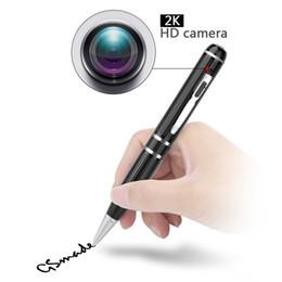 Wholesale hdmi dvr recorders - 2K HD Mini Pen Camera 1296P Motion Detetction HDMI Port Memory Ball Pen Camera Mini DVR Portable Pen video recorder 16GB 32GB