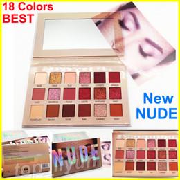 Belleza nueva nude paleta de sombra de ojos maquillaje Matte Shimmer Eyeshadow Marca 18 colores sombra de ojos La mejor calidad envío libre de DHL desde fabricantes