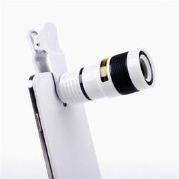 Zoom óptico lente para telemóvel on-line-Long Focus Zoom Lente Da Câmera Longe Alta Definição Ângulo Escuro Unniversal Telefone Móvel Óptico Len Externo Com Oito Vezes Espelho 9gf ff