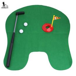 Wholesale Mini Putter - RUNACC Toilet Golf Set Practical Bathroom Mini Golf Training Set Portable Potty Putter