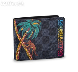 Wholesale print multiple - MULTIPLE WALLET N62201 MEN PALM TREE WALLET PURSE BAG wallet purse Belt Bags Mini Bags Clutches Exotics