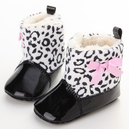 e674d92e9d287 Leopard Cute Baby Winter Shoes 0-18 M Mocassino Boy Girl Toddler Boots  Newborn Prewalker Scarpe neonato Soft First Walkers Booties scarpe di  leopardo carino ...