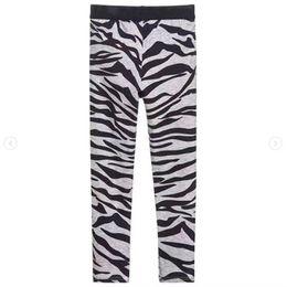 Argentina Polainas de niña Baby Girl Clothes Pencil Pants Cotton Kids Trousers Print Zebra Strips Polainas de niños para niñas en stock cheap zebra pants for kids Suministro
