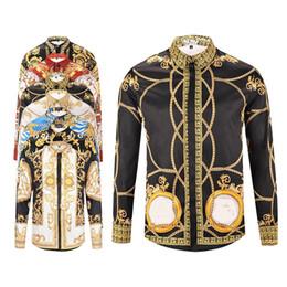 Wholesale Tiger Long Sleeve - 2018 3 d printing tiger new men's fashion luxury fashion leisure designer luxury leisure shirt long sleeve men medusa