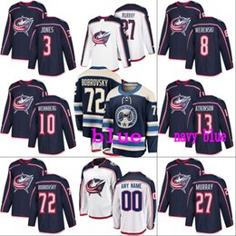 8 Zach Werenski Columbus Blue Jackets Jersey 3 Seth Jones 4 Scott  Harrington 7 Jack Johnson 10 Alexander Wennberg Custom Hockey Jerseys b5d6d03cf