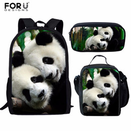 Panda crayon mignon en Ligne-FORUDESIGNS Sacs d'école pour enfants Crayon Casbag Adolescent Filles Garçons Mignon Panda Cartable Sac à dos Infantil