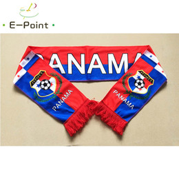 Wholesale Face Material - 145*16 cm Size Panama National Football Team Scarf for Fans 2018 Russia Football World Cup Double-faced Velvet Material