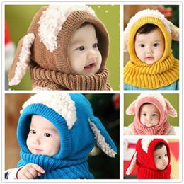 Canada Hiver Baby Hat et Foulard Joint Avec Crochet Tricoté Casquettes Pour Bébés Garçons Filles Enfants Enfants Cou Warmer Y253 cheap infant neck scarf Offre